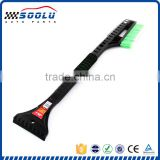 Practical stainless steel car snow broom with ice scraper