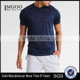 MGOO Manufacturer Offered Blue Color Dry Fit Plain T-shirts Mens Short Sleeve Sports T Shirt