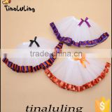 new fashion halloween Pumpkin tutu skirts children holiday tutus baby dance wears Halloween Pettiskirt