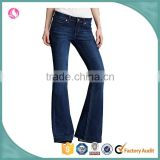 New arrival lady's sexy washed boot cut jeans