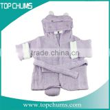 Wholesale Shark hippo frog 100% cotton coral fleece hooded children baby kids animal bathrobe