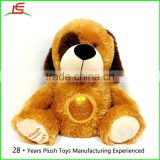 Plush Stuffed Animal Dog Perfect Bedtime Sleep Toy With LED-Lit Glitter Ball