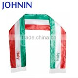 OEM Professional Cheap Price Custom Silk Screen Printing Satin Football Fan Scarf For Cheering