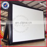 Big inflatable rear projection movie screen