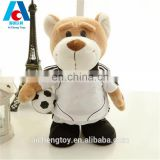 plush material football teddy bear toy for activites