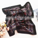 Customized Silklike satin square scarf Fashion Square Bandanas Polyester Handkerchief Accessories