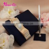 AW0706 Wedding guest signature book and pen holder