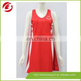 Cheap dresses custom sublimated netball dress origin in china