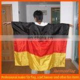 polyester Germany Poncho flag with sleeve