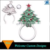 China manufacturer bulk decorative custom alloy metal magnetic Christmas tree eyeglass clip holder brooch pin