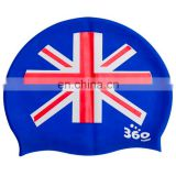 Country Flag Waterproof 100% Silicone Swim Cap