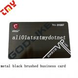 Cheap Personalized Custom Laser Cut Stainless Steel Black Metal Business Card