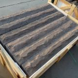 brown wave sandstone,cloudy sandstone,wenge sandstone,purple  sandstone, brown sandstone slabs steps flaggings