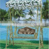 Outdoor Rattan Swing Hammock with Canopy SV-A038