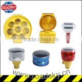 Good Quality Yellow Solar Barricade Warning Light On Way