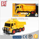 Yellow Color Plastic Freelwheel Dump Truck Toy