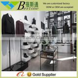 high quality balck metal display cabinet clothing store furniture
