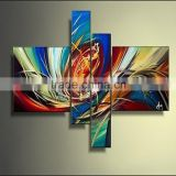 Hot item four pieces a group cool shape Stretcher abstract oil painting for living room Acrylic Oil Painting