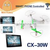 2014 newest wifi quadcopter with camera drone with camera wifi drone android wifi toy CX-30W