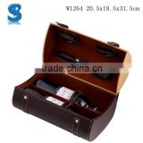 Handmade Bulk Production PU Leather Covered Wine Gift Boxes Individual Magnum Wine Box W1264