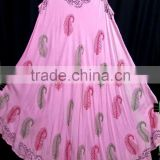 Beautiful pink hand printed umbrella dress Celebrity elegant style sleeveless dresses in india for wholesale