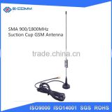 SMA 900/1800MHz Suction Cup GSM Antenna For Car / Truck / Boats to Improve Cell Phone Voice & Data Reception