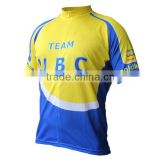 Short sleeve drt fit china cycling jersey/polyester china custom cycling jersey/sublimation china cycling team jersey