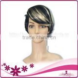 No Shedding Synthetic wigs for white women,Blonde high light hair wigs synthetic                                                                         Quality Choice