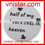 Vnistar 22mm Stainless Steel Large Frame Locket Plate half of my heart lives in heaven AC509