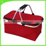 aluminium frame picnic lunch cooler bag folding picnic basket outside insulation cooler box                                                                                                         Supplier's Choice