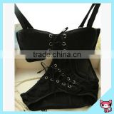 Black Tie-Down Straps Custom Underwear Bra