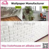 NEW 3D PE foam faux brick wall sticker, 3D wallpapers for home decoration from China Supplier