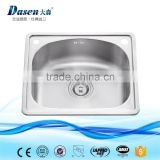 Euro kitchenware material fireclay kitchen sink overflow with metal bowl pad