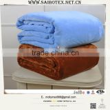 solid color micro plush chunky knit blanket