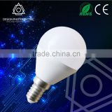 2015new product led bulb light 3w plastic and aluminum cover 230 beam angle BV RoHS CE EMC SASO