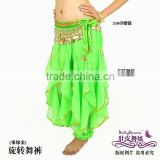 Apple green belly dance harem pants,chiffon costume for belly dancing,belly dance wear,belly dance clothes