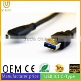 Hot sale product CE certification usb 3.1 type-c cable up to 10 meters
