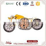 Special yellow motorcycle design big round shape clock different types of arts and crafts