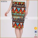 New Women Casual Print High Waist Bodycon Midi Pencil Skirt Colorful                                                                         Quality Choice