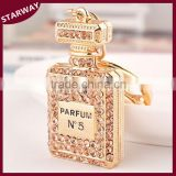 SW17065 Creative rhinestone square promotion perfume bottles key chain/                                                                                                         Supplier's Choice