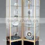 direct manufacture and conbination shape and movable and electric with light of glass display cabinets
