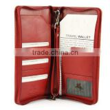 Soft Leather Travel Wallet For Passports,Tickets (SA8000, BSCI, ICTI, WCA accredited factory)                                                                         Quality Choice
