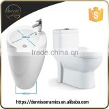 Dennis L-609 and 2085 Chinese WC Toilet Basin Combination