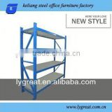 metal slotted-angle shelf movable storage rack industrial shelving used