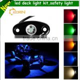 12V white red blue yellow led deck rail light with Multi colors waterproof led rock light kit