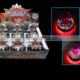 Wholesale - Spiderman LED Flash Light Spinning Spin Top Beyblade Music Laser Wind Up Toy New