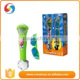 Baby electronic toy musical instrument plastic B/O microphone with a cool glass