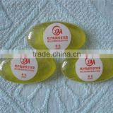 High quality 5 star disposable hotel soap oval transparent soap