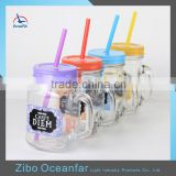 Hot Sale Decal Buy Bulk Cheap Glass Mason Jars Wholesale Mason Jars With Straw