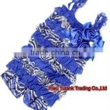 Royal Blue Zebra Lace Ruffles Petti Romper GB039